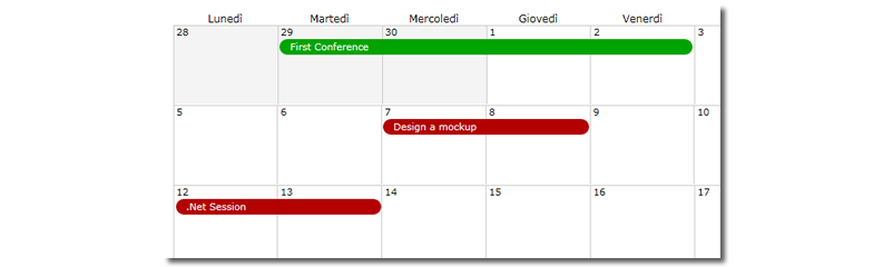 Imposta il calendario