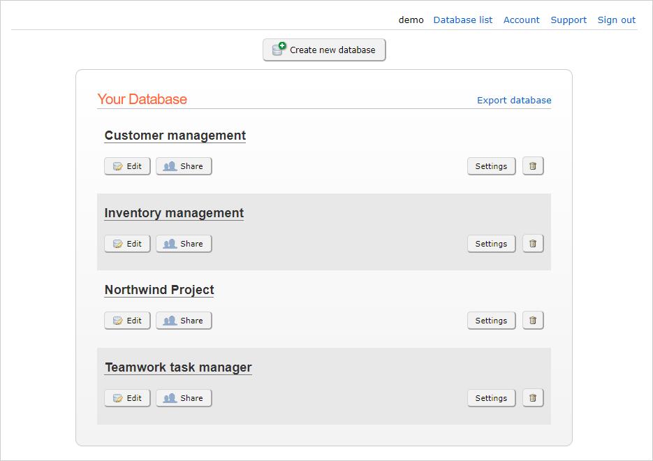 BaseBear com online database usage guide