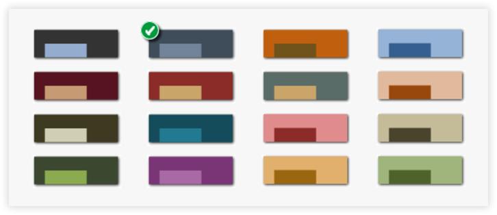 Imposta un colore al database